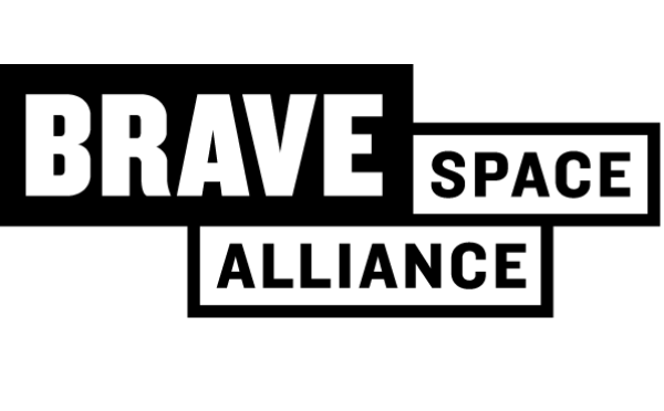 Brave Space Alliance black and white logo